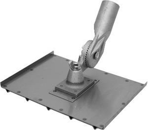8 X 10 1/2 SS Wheelchair Wlk Grvr; All-Angle/Adjst Brkt 1/4 X 1/4 Grv, 2 1/4″ OC