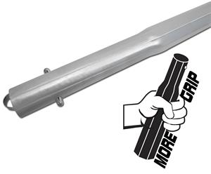 1-3/4″ Octagon Swage Handle 72″, clear
