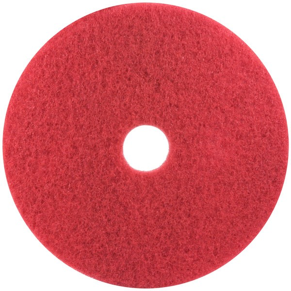 13″ Red Buffing Floor Pad