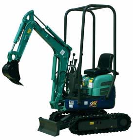 Excavator SMALL  20 hp 12″ BUCKET