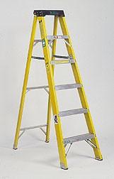 LADDERS – STEP 6′, 8′, 10′, 12′, 14′ & 16′ ALUMINUM OR FIBERGLASS